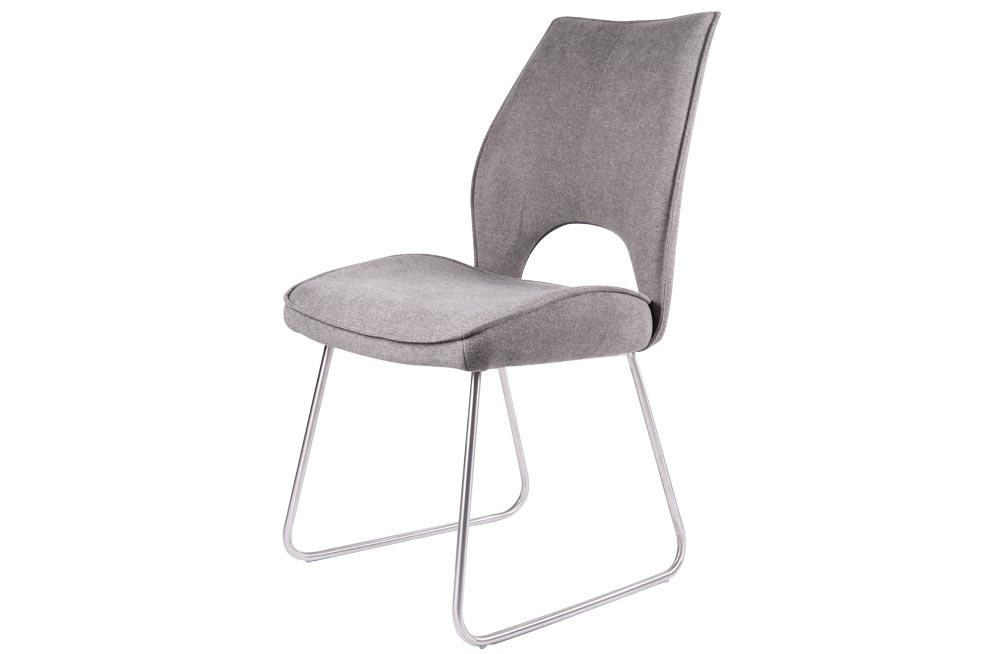Chair Dayton, taupe, metal legs, 50x90.5x62cm, seat height 48cm