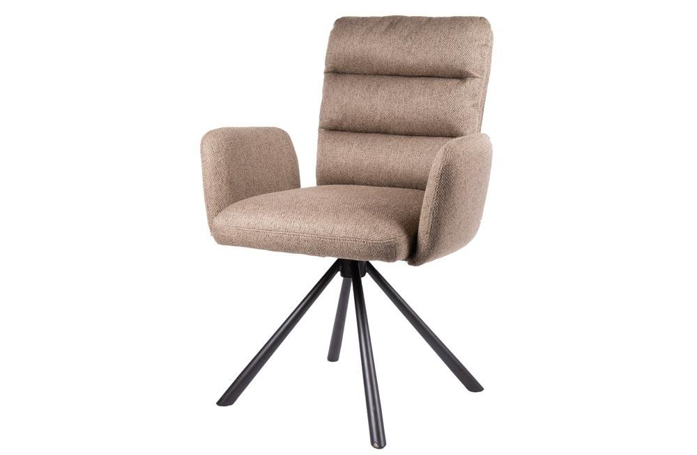 Chair Daloa, 360 swivel, brown,  67x62x91.5cm, seat height 48cm