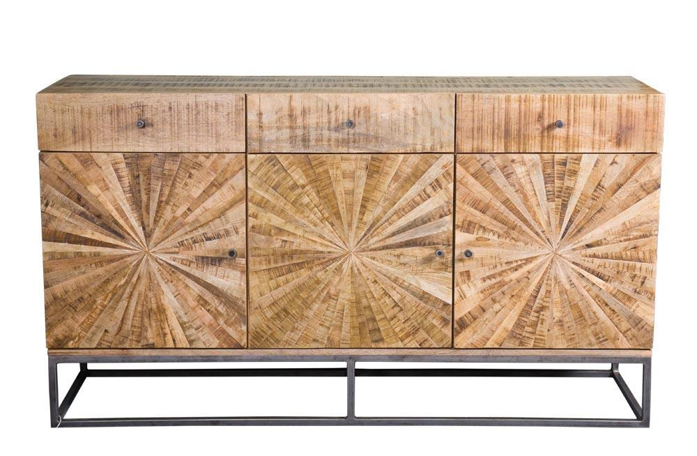 Sideboard Sole, 3 doors, 3 drawers, from Mango wood, 160x40x90cm
