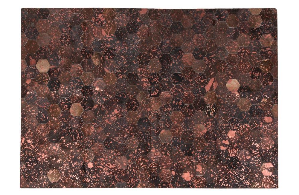 Leather Carpet, brown 2107, 140x200cm