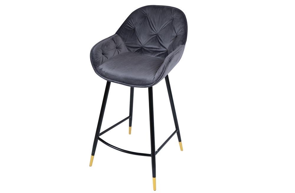 Bar chair Salorino, grey, 96x48x54cm