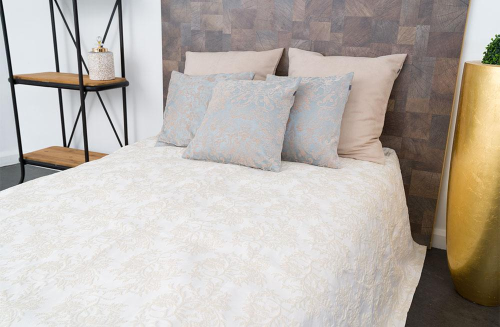 Bed cover Sal, beige, 220x260cm