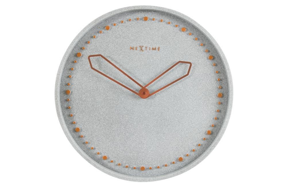 Wall clock Cross, grey, D35cm