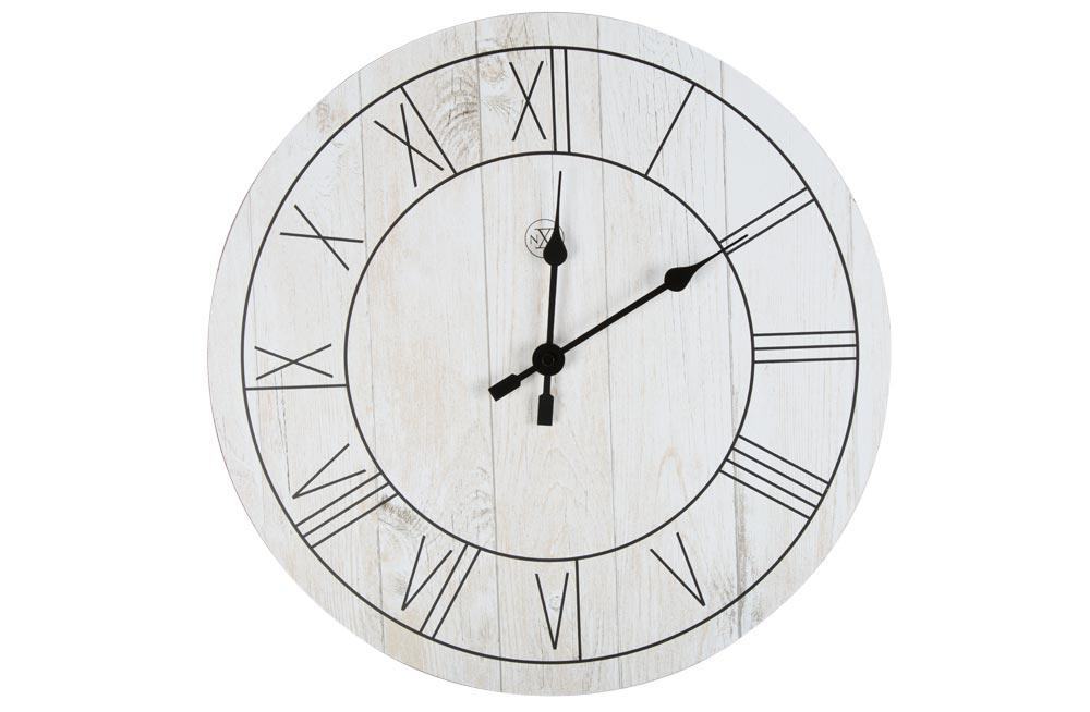 Wall clock Paul, wood, D40cm