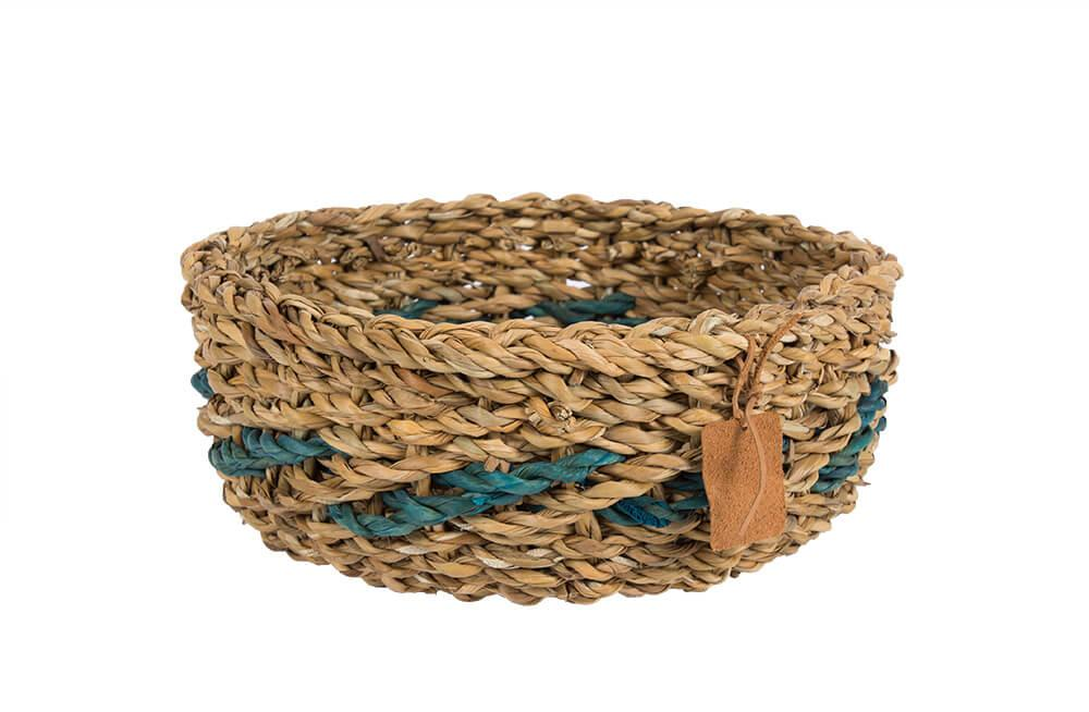 Wicker Basket Tulia M, seagrass, H12cm, D25cm
