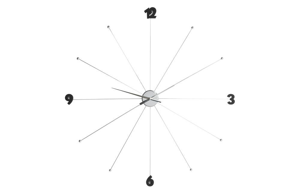 Wall clock Like Umbrella Chrome, D-100x6cm