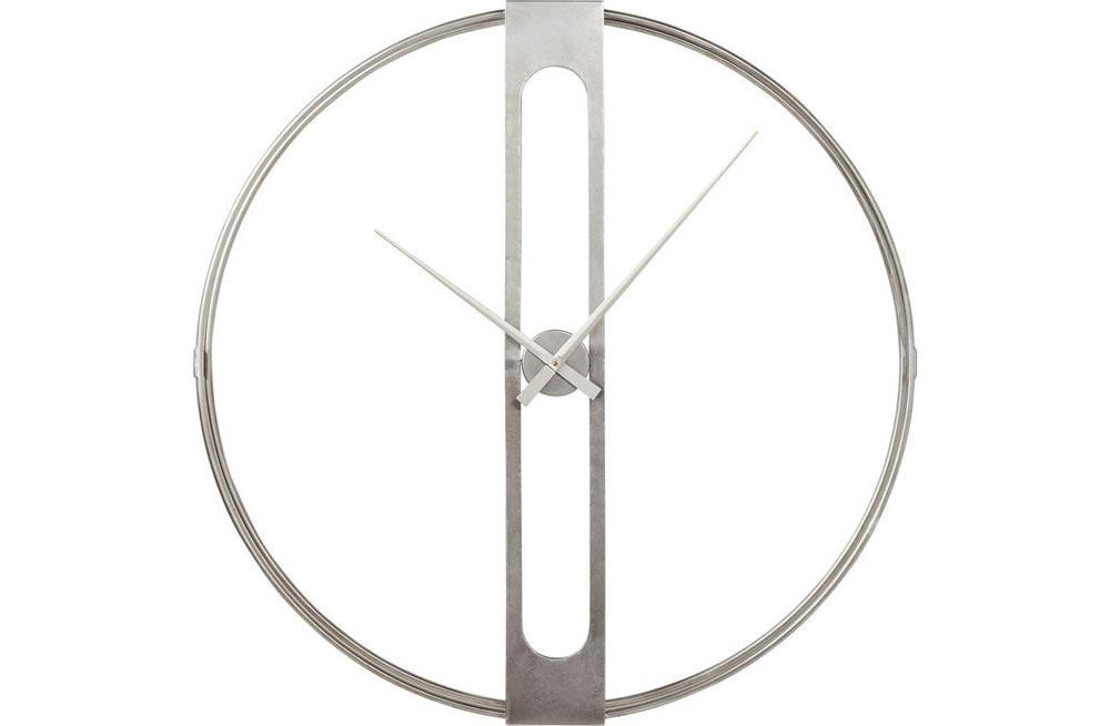 Wall clock Clip, silver colour, D107cm