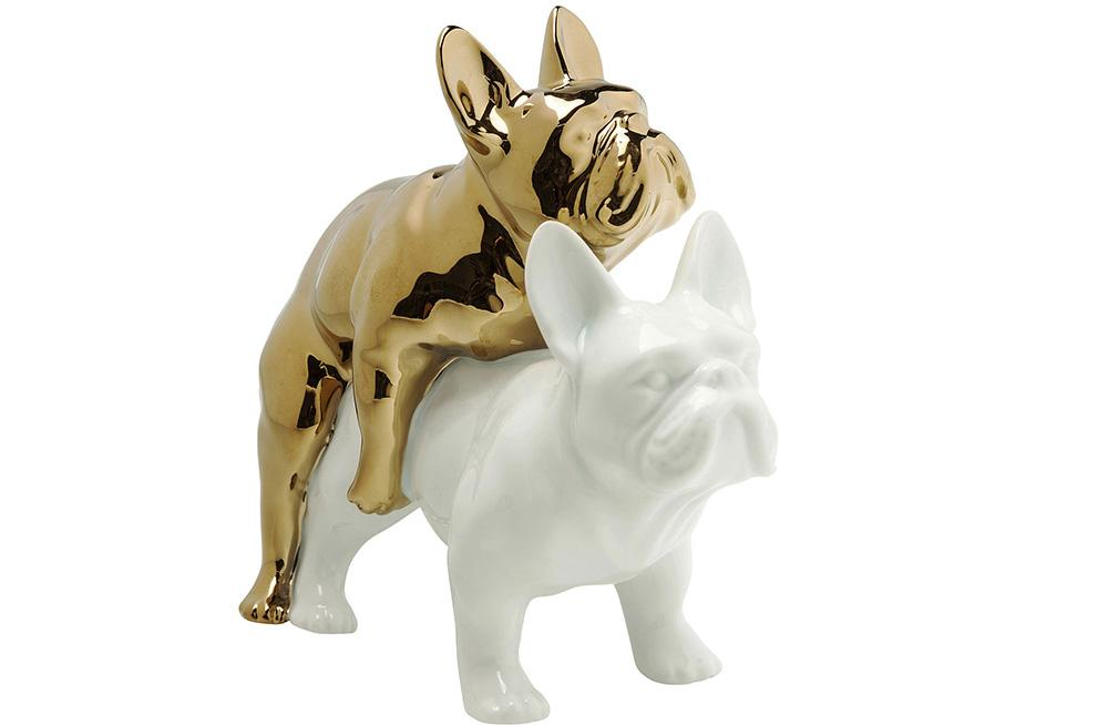 Decorative Figurine Love dogs, 16x20x11cm