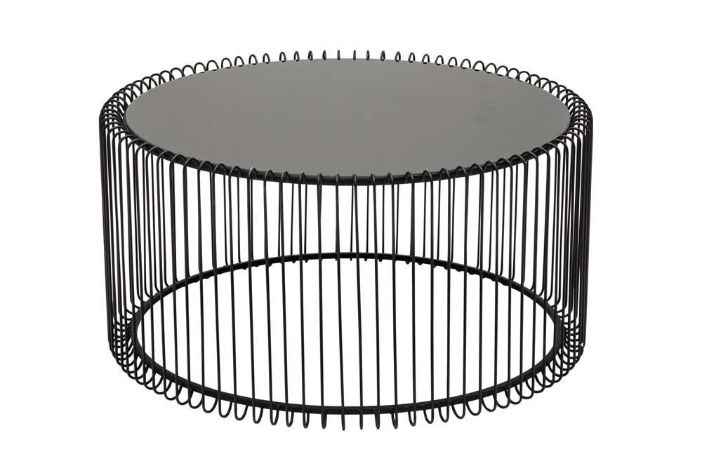 Coffee table Wire Black, H33x69x69cm