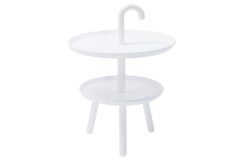 Side table Jacky, white, H56x42x42cm