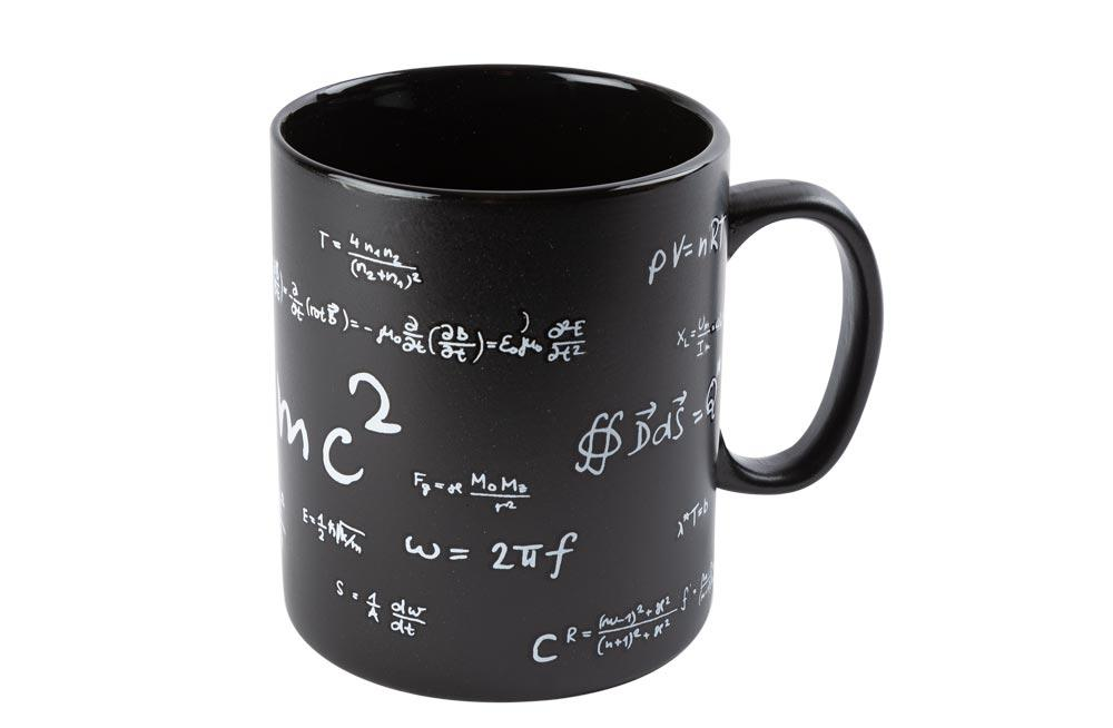 Black stoneware mug  Mathematic,13x11cm