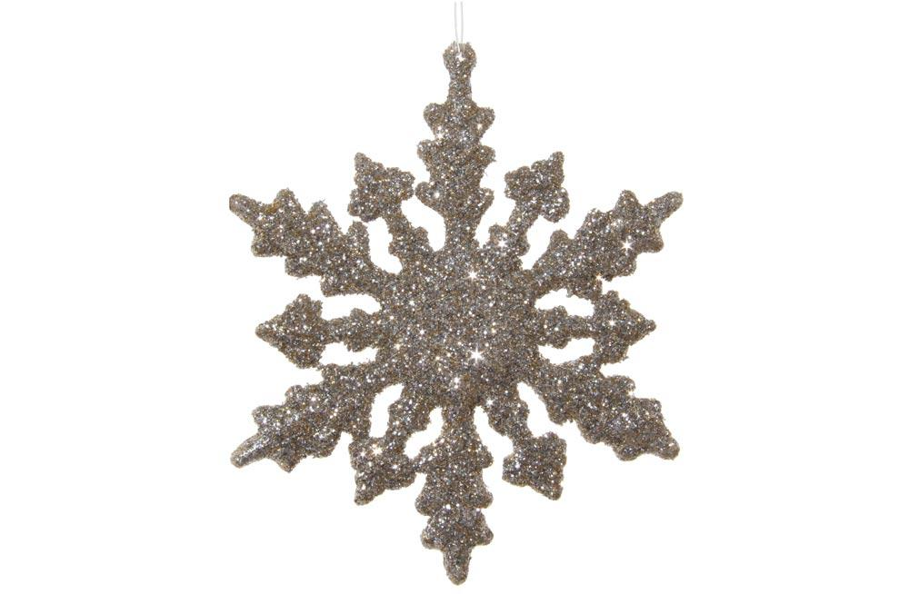 Champagne and Silver Snowflake ACD156