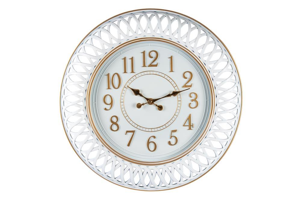 Wall Clock Antique, white, D58.5cm