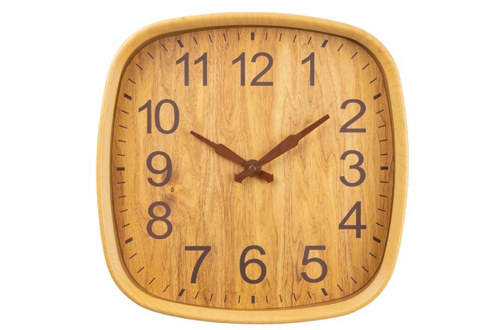 Wall clock Inline natural, 30,5x30,5x5cm, plastic