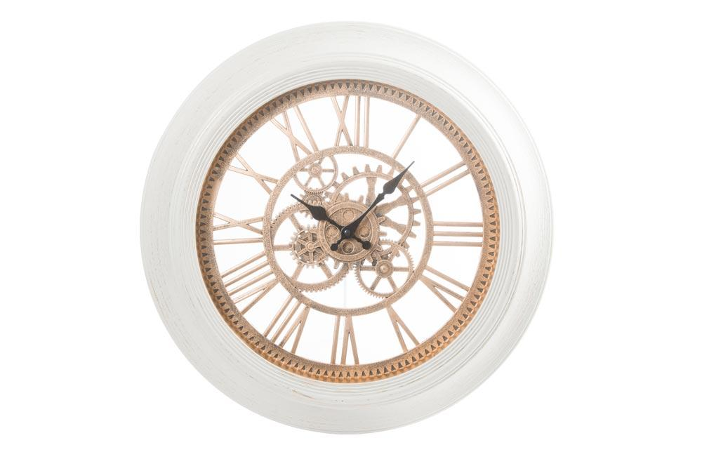 Wall clock Antique, ivory/golden, D51x5cm