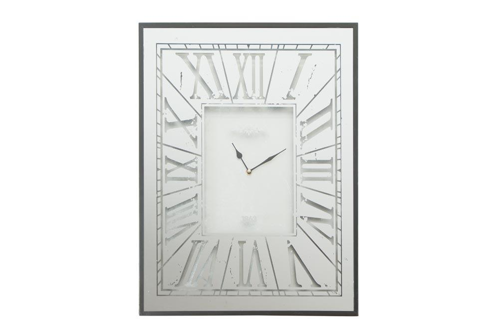 Wall clock Iden, metal, silver color, 45x5x60cm