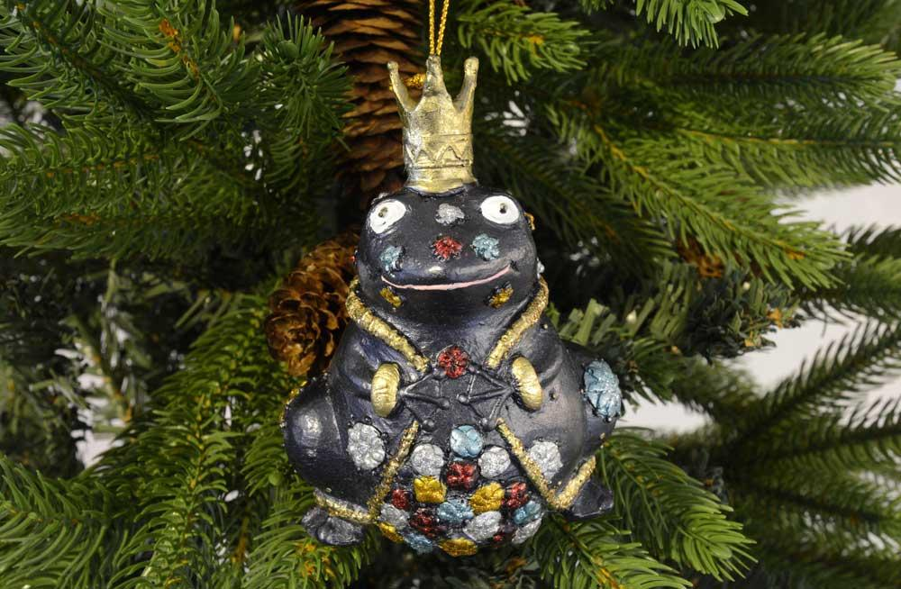 christmas ornament frog queen - Queen Christmas Decorations