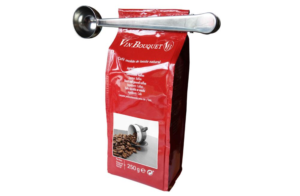 Coffe Spoon with Tong 2in1, H12cm