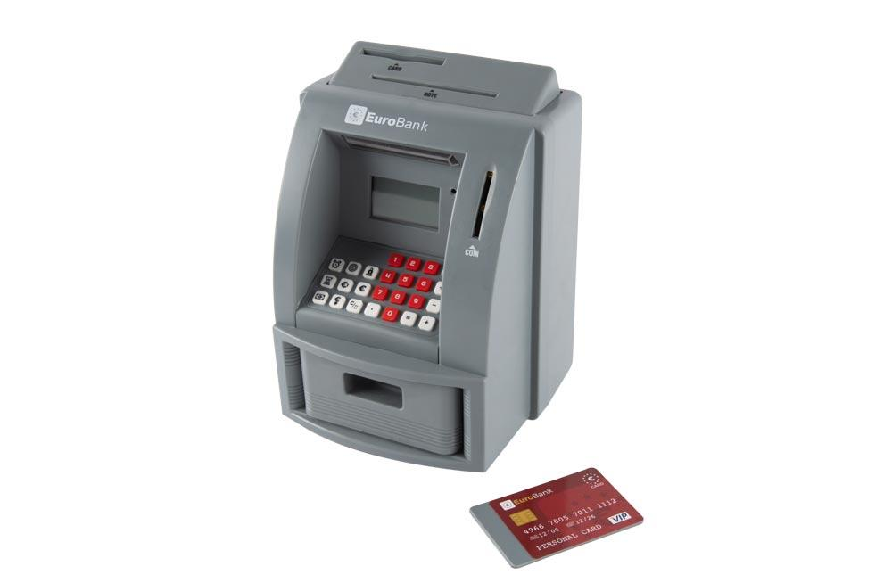 Money bank EuroBank, 3xAA, H22x16x14.5cm