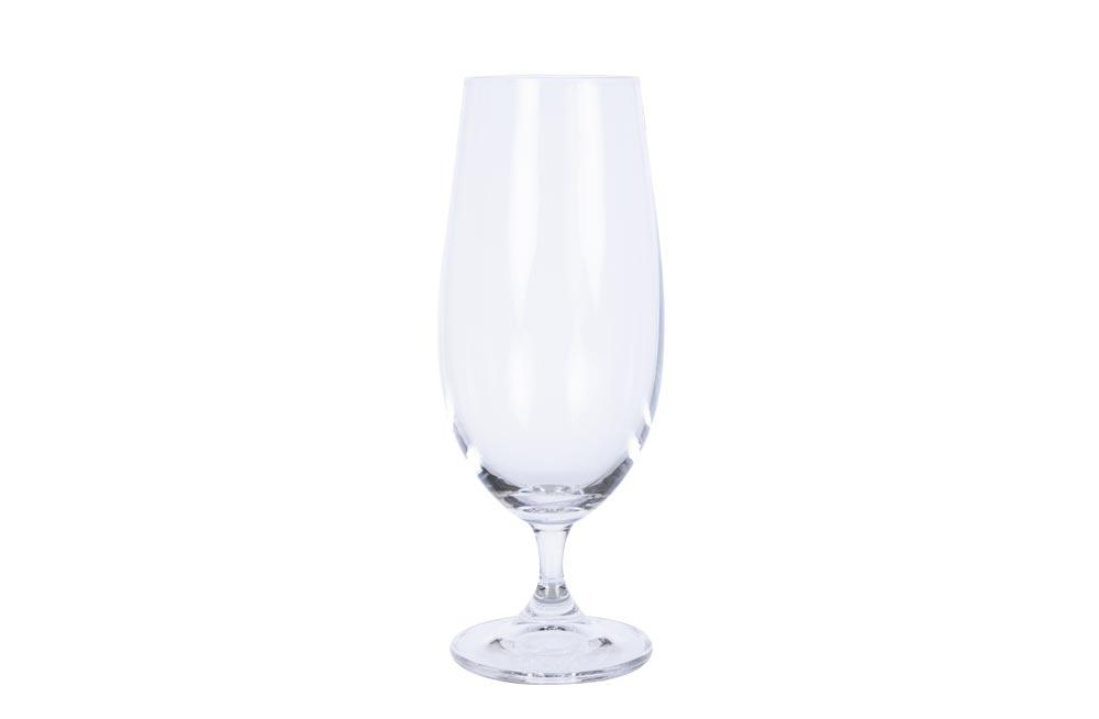 Crystal beer glasses, set 2 pcs, 380ml, H18.5xD-5x6.5cm