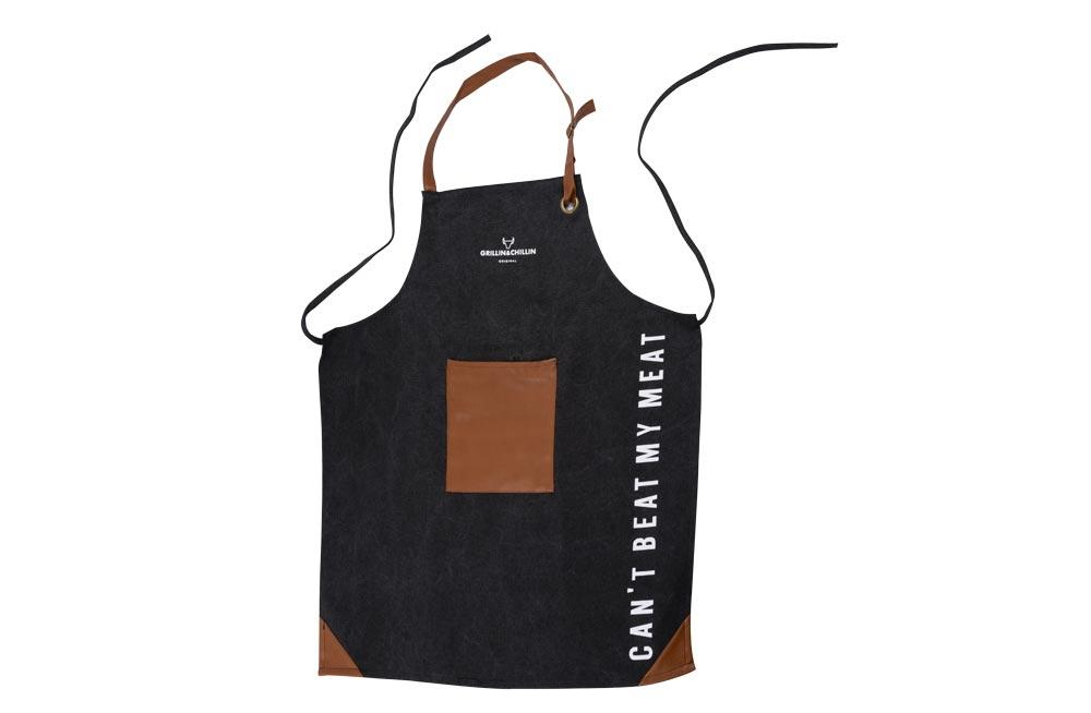 Canvas Apron, black, 80x60cm