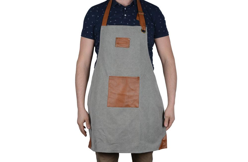 Canvas Apron, grey, 80x60cm