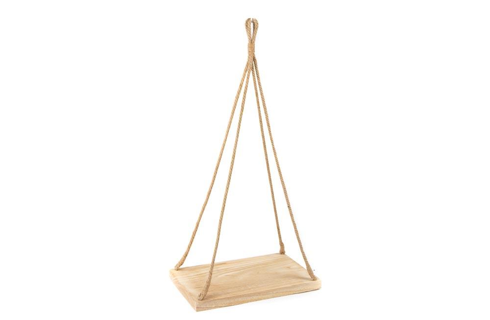 Decorative hanging tray, wood, 45x29x3.5cm