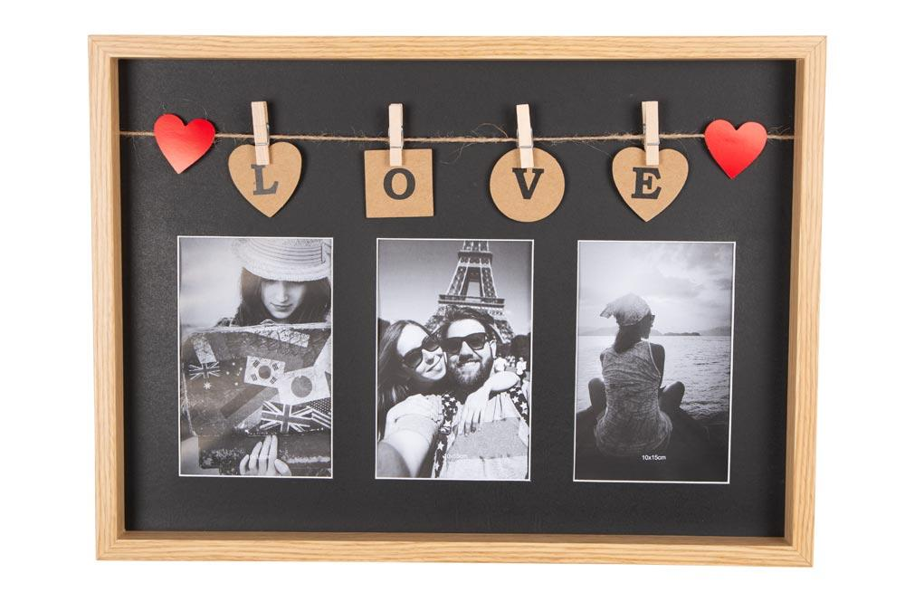 Photo frame Only Love, 3x 10x15cm