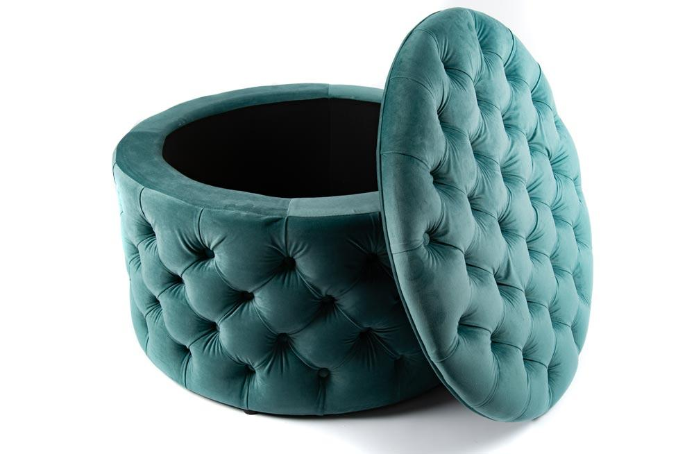 Prime Ottoman Storage Box Rockfort Mint Green 75X75X48Cm Poufs Gmtry Best Dining Table And Chair Ideas Images Gmtryco