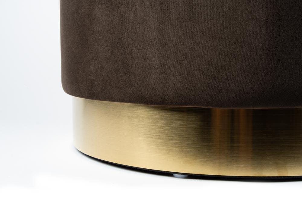 Stool Nereto, brown/gold color base, 55x35cm