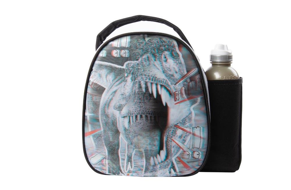 Bag with watter bottle Dinoshok, 500ml, H-25x27x9cm